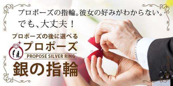 プロポーズ 銀の指輪