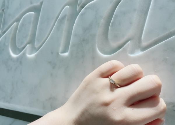 神戸 垂水区 guiraの婚約指輪をご成約いただきました