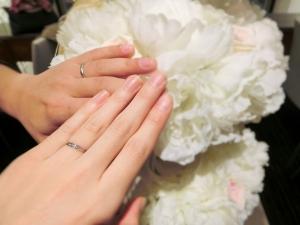 指輪の種類が多かったですが、サクサク選べました!