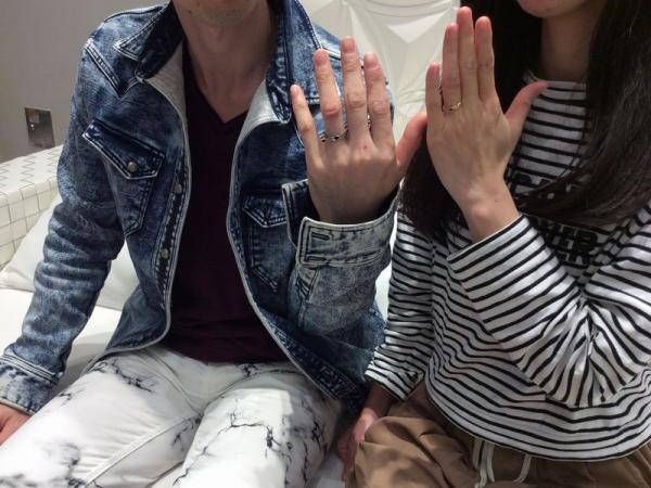 神崎郡福崎町『輝彩』の結婚指輪をご成約頂きました