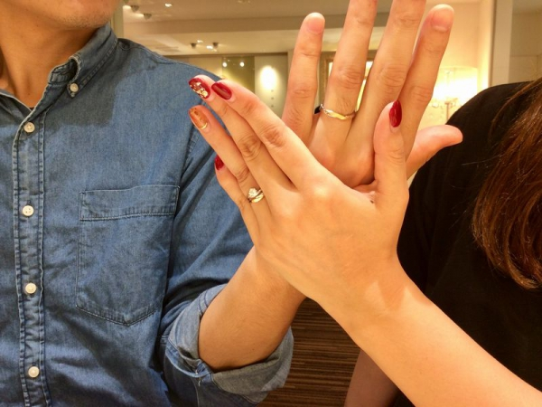 姫路市 『ラパージュ』の結婚指輪をご成約頂きました