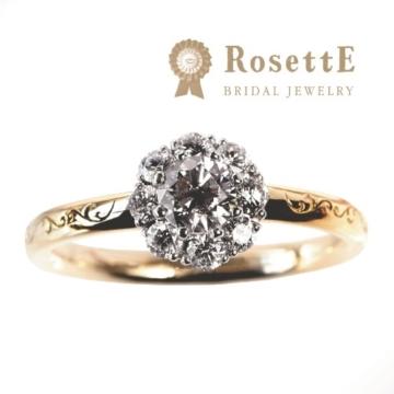アンティーク調でインスタで人気のブランドRosettE(ロゼット)の結婚指輪Sunshine(太陽)1