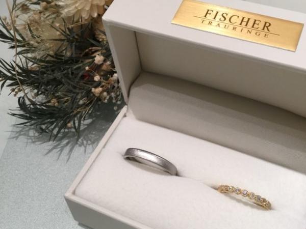 フィッシャーとロゼットの結婚指輪(貝塚市)