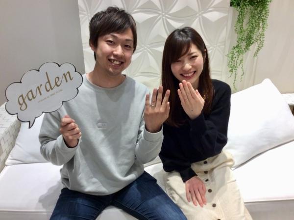 姫路市 gardenオリジナルの婚約指輪とet.luの結婚指輪