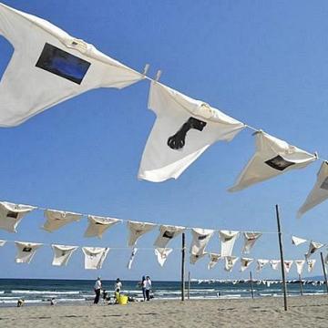 大阪のサプライズプロポーズ 砂浜美術館