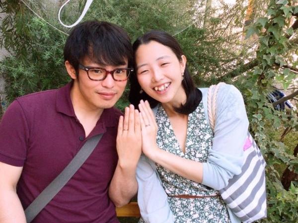松原市 gardenのオリジナル婚約指輪・アイデアルダイヤモンド・ひなの結婚指輪