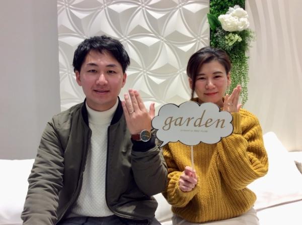 姫路市 gardenオリジナルエンゲージリングと美女と野獣の結婚指輪