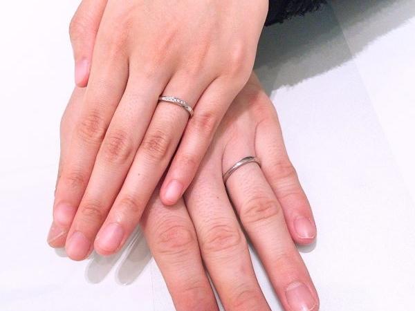 大阪市住吉区 シンプル高品質なブランドet.lu(エトル) の結婚指輪