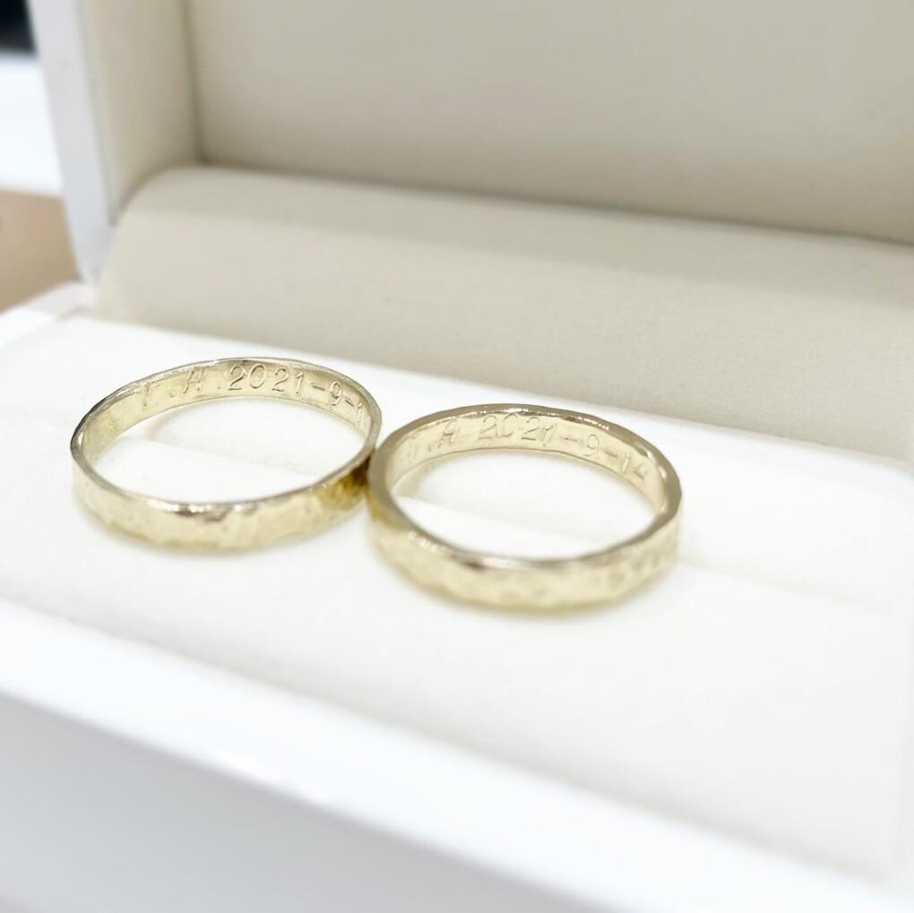 ハンドメイド指輪を作成頂きました京都