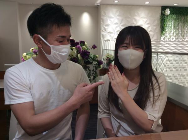 兵庫県宍粟市 婚約指輪のリフォームをさせていただきました。