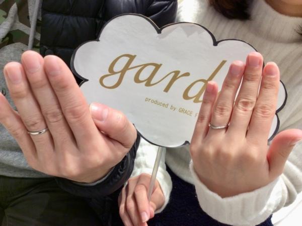 garden姫路オリジナルの婚約指輪とPulito結婚指輪 <兵庫県朝来市>