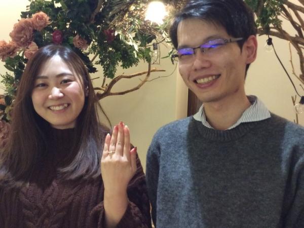 【大阪市鶴見区】RosettEの婚約指輪ご成約のお客様