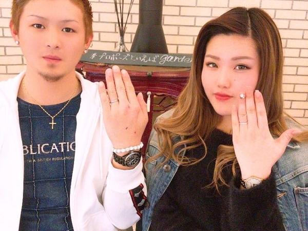 大阪府岸和田市  鍛造づくりの結婚指輪