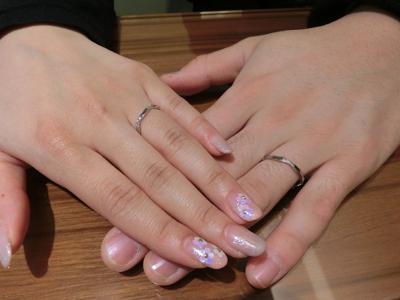 2人共気に入る指輪を見つけられたので良かったです。