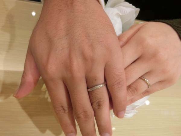 一生付き合える指輪と出会えて2人とも幸せです。