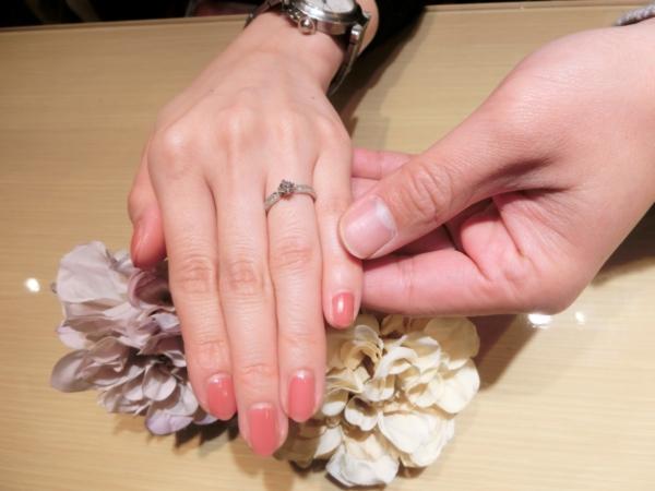 婚約指輪:gardenオリジナルのデザインを選んで頂きました。<兵庫県 神戸市>