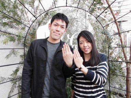 結婚指輪にPulitoをお選び!大阪府泉南市からお越しいただきました