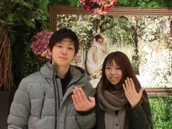大阪 堺市のお客様が結婚指輪をご成約≪nocur・RosettE≫