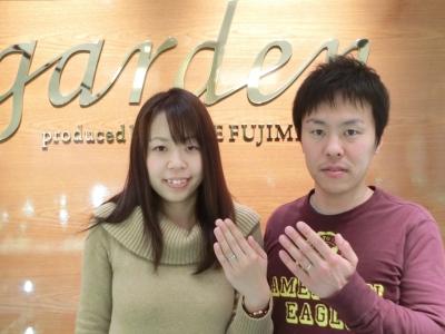 婚約指輪はgardenオリジナル、結婚指輪はKatamuとひなをご成約頂きました〈三重県津市・奈良県五条市〉