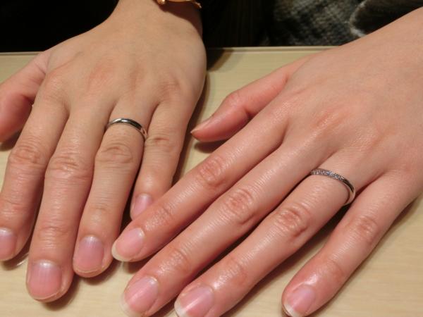 婚約指輪と結婚指輪をお選び頂きました