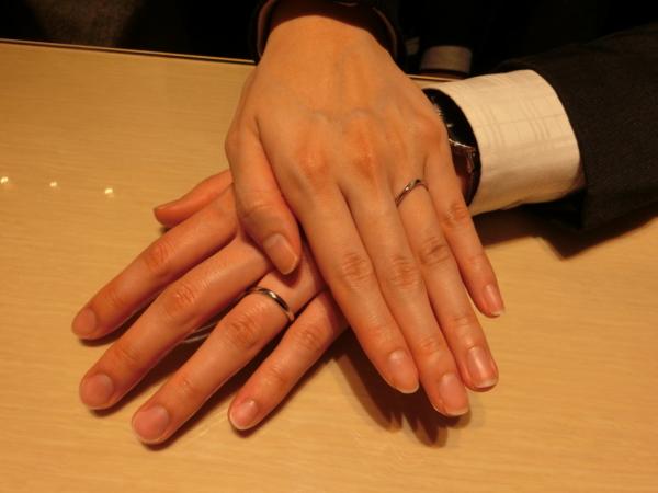 オリジナルの婚約指輪&シンデレラの結婚指輪