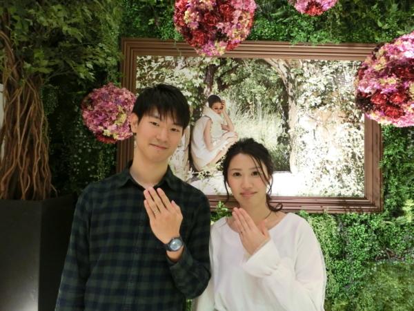 三重県 オリジナルの婚約指輪とFISCHERの結婚指輪