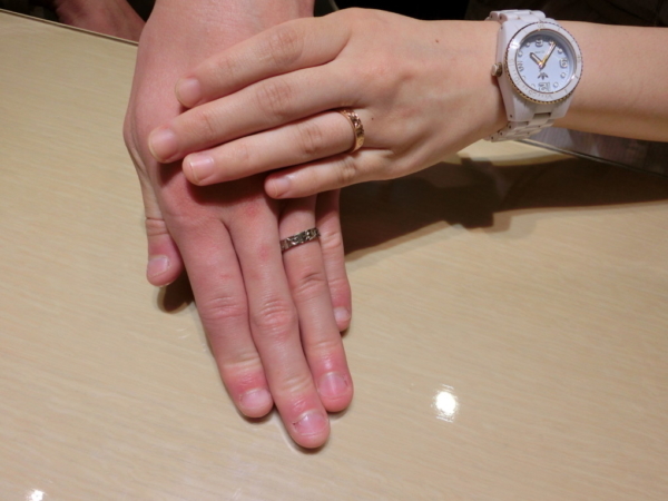 大阪市西区 輝彩の結婚指輪