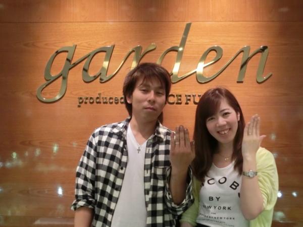 奈良県北葛城郡 オリジナルの婚約指輪とMAXIの結婚指輪