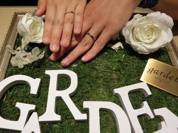 大阪府門真市 Quand de mariageの婚約指輪とtesoroの結婚指輪