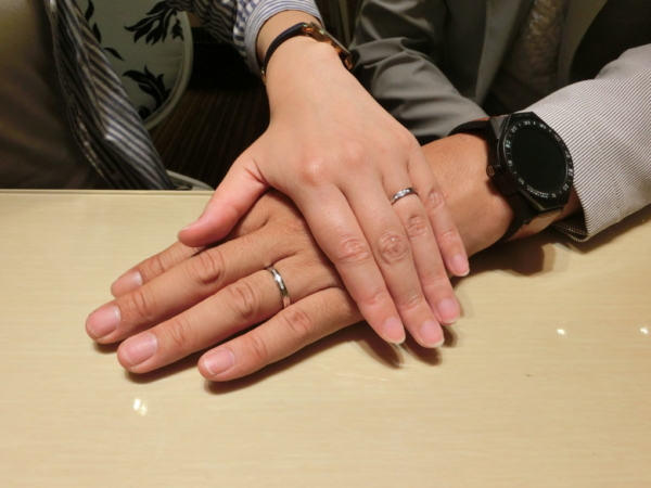 京都府京田辺市 Pilot Bridalの結婚指輪