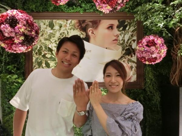 オレッキオの婚約指輪と結婚指輪 大阪市港区