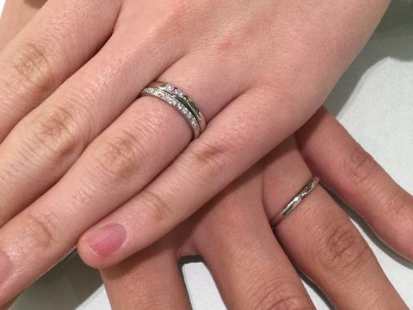 大阪府和泉市 和歌山県海南市  So(ソウ) とGrace Kama(グレースカーマ) のエタニティリングと結婚指輪をお選びいただきました。