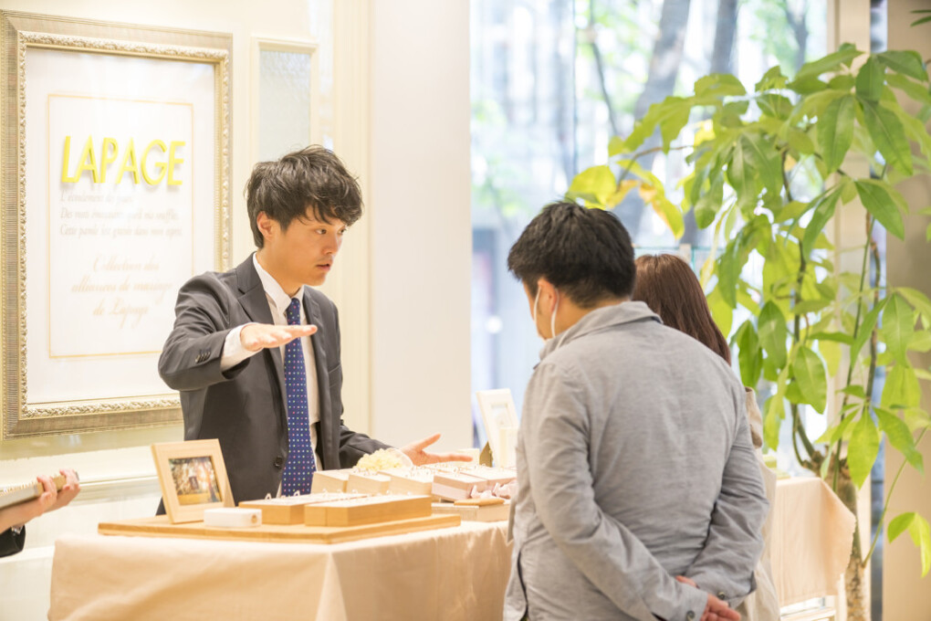 gardenフェスタin奈良の指輪選びのイメージ