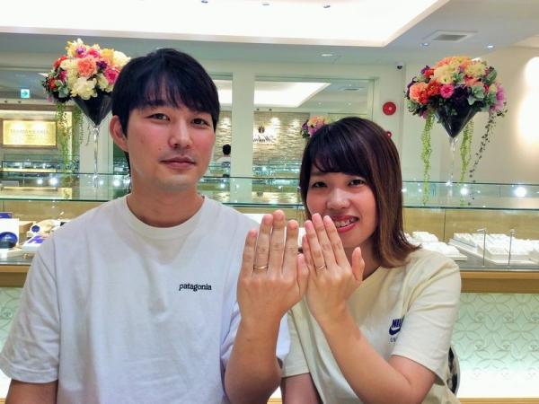 兵庫県赤穂市 ロゼットの結婚指輪