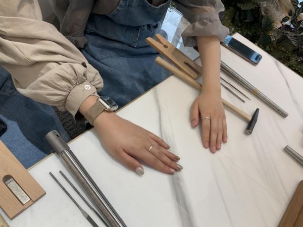 滋賀県・栗東市|手作り指輪作成いただきました