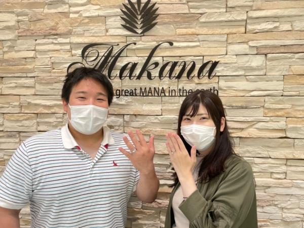 大阪・茨木市|高品質ハワイアンジュエリーブランドでマカナの結婚指輪をご成約いただきました