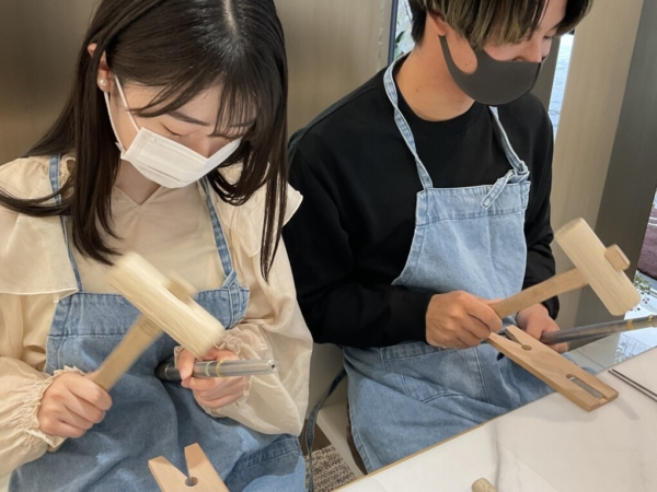 京都市南区・奈良県天理市|手作りペアリング(指輪)作成いただきました