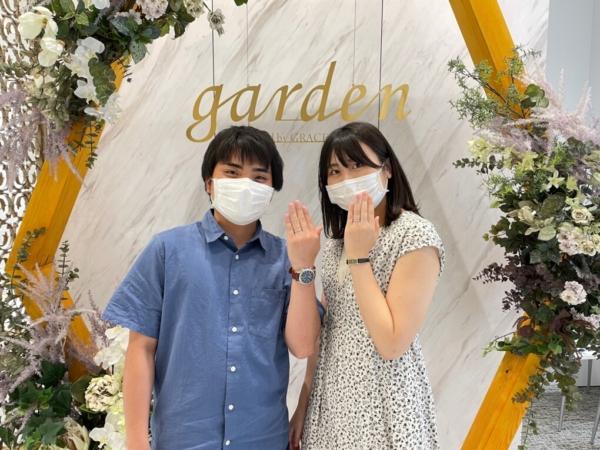滋賀県草津市・東京都新宿区 鍛造製法・デザインにこだわったフィッシャーの結婚指輪をご成約いただきました