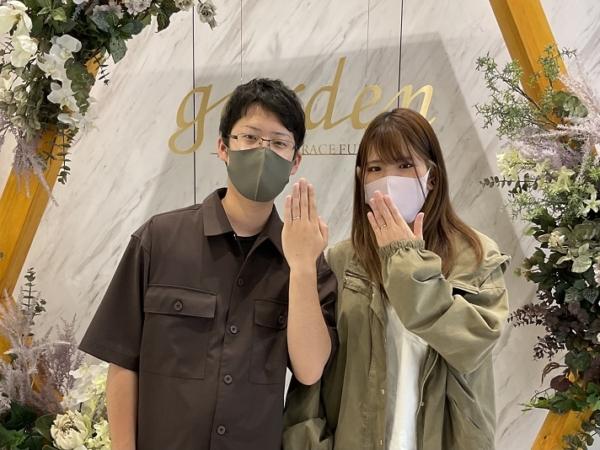 奈良県奈良市|手作り結婚指輪作成いただきました