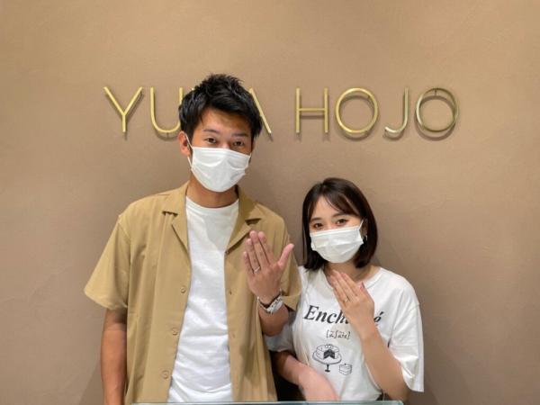 滋賀県草津市 ユカホウジョウの婚約指輪・結婚指輪をご成約いただきました