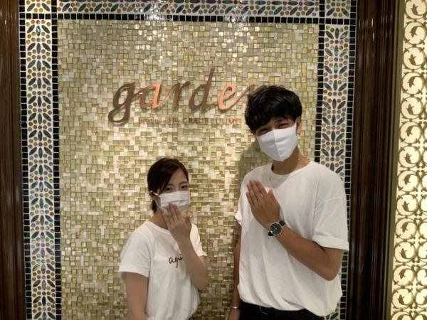 神戸市垂水区 SomethingBlue、et.luの結婚指輪をご成約頂きました