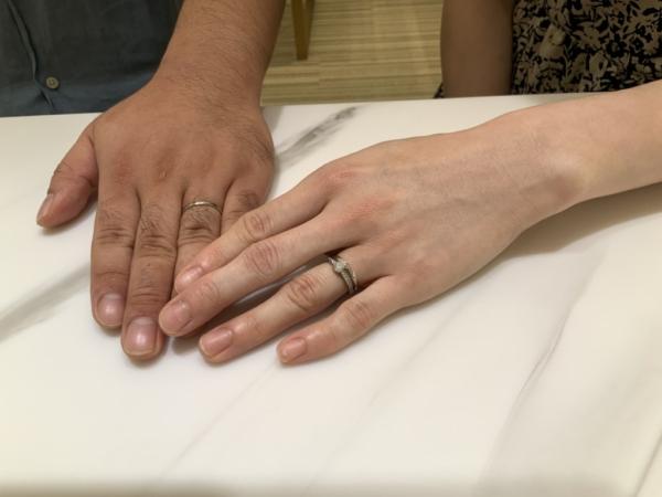 神戸市北区 nocur(ノクル)の結婚指輪をご成約頂きました