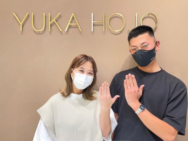 滋賀県栗東市 ユカホウジョウの結婚指輪をご成約いただきました