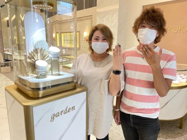 京都市南区 ハワイアンジュエリーマカナの結婚指輪をご成約いただきました