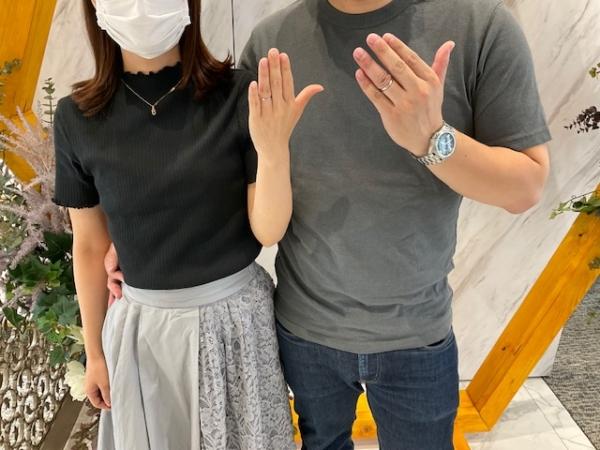 京都市西京区・下京区|鍛造製法の強度にこだわったフィッシャーの結婚指輪をご成約いただきました