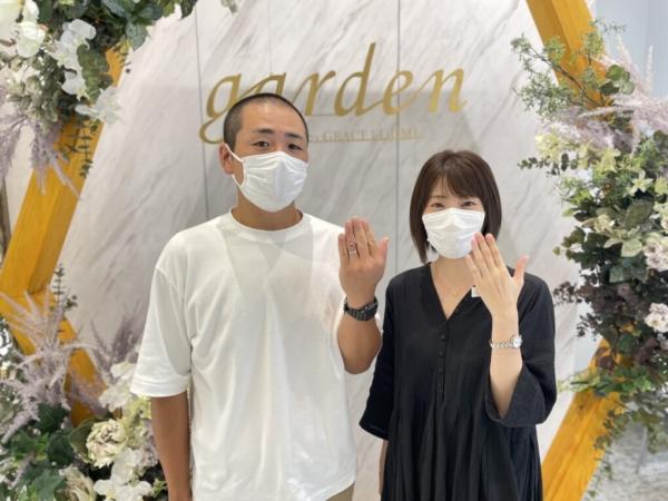 滋賀県栗東市・近江八幡市 フィッシャーの結婚指輪をご成約いただきました