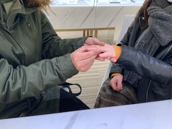 FISCHERの結婚指輪をご成約いただきました