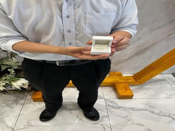 京都市・中京区|当日お持ち帰りができるリトルガーデンの婚約指輪をご成約いただきました