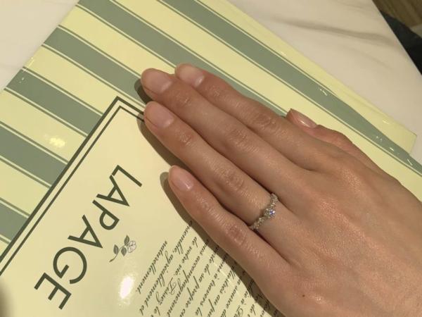 西宮市 LAPAGE(ラパージュ)の婚約指輪をご成約頂きました