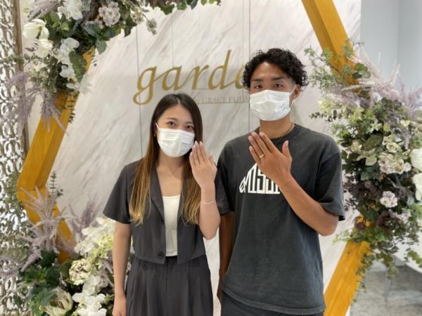 滋賀県守山市 フィッシャーの結婚指輪をご成約いただきました